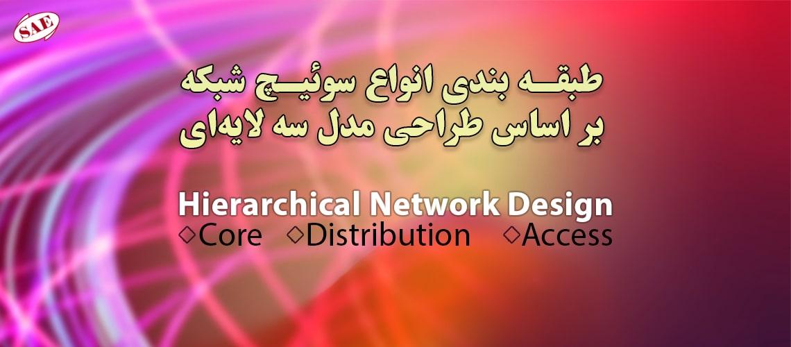 انواع سوئیچ شبکه بر اساس طراحی مدل سه لایه ای