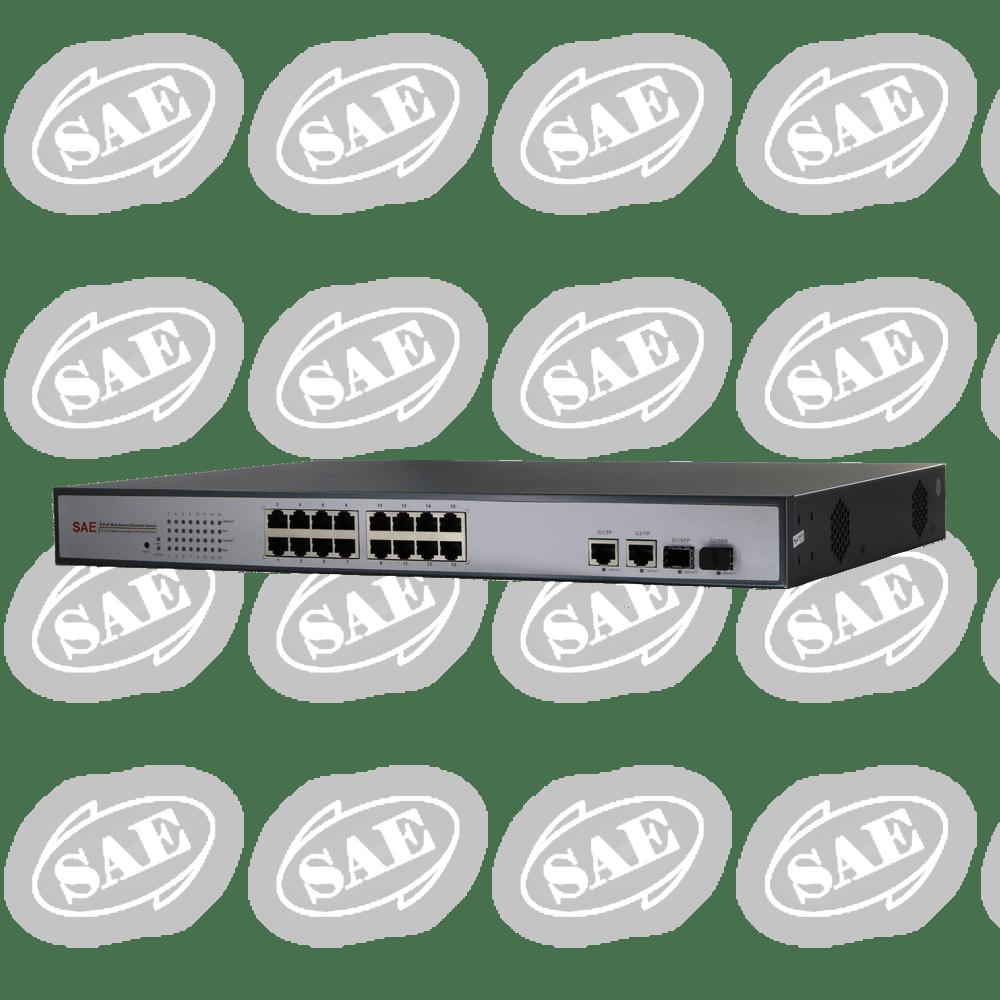 محصول SAE-PE161600F-DG-NMS در دسته بندی سوئیچ 16 پورت PoE